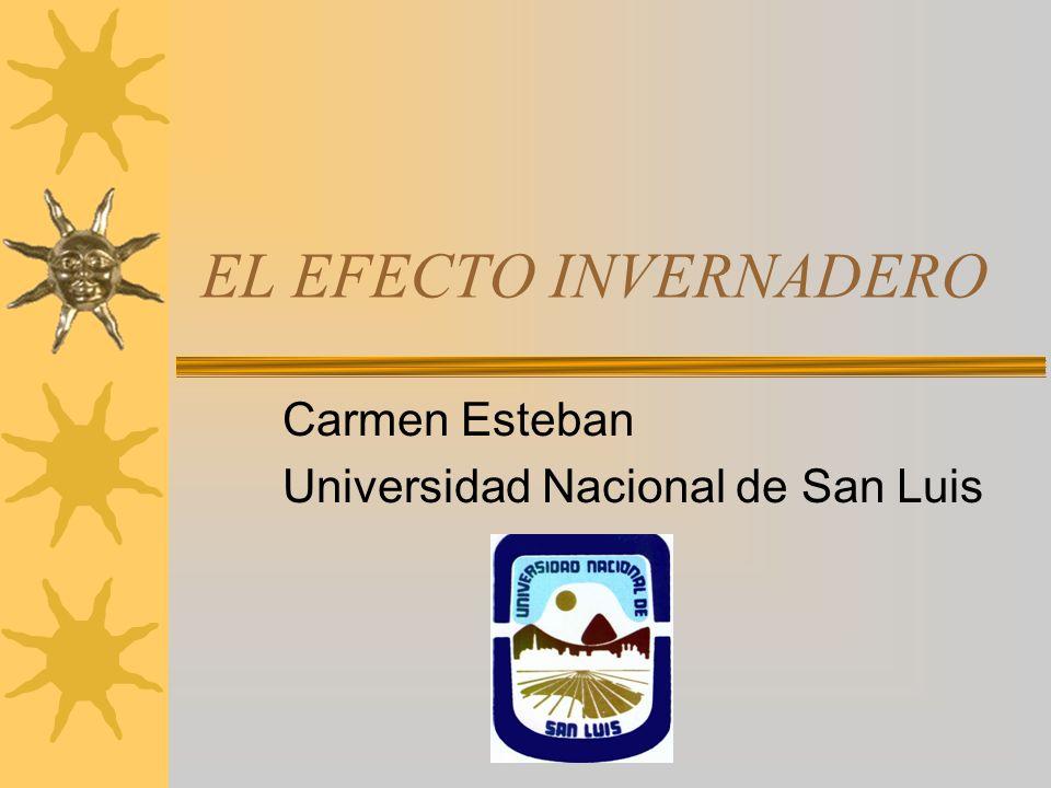 Carmen Esteban Universidad Nacional de San Luis