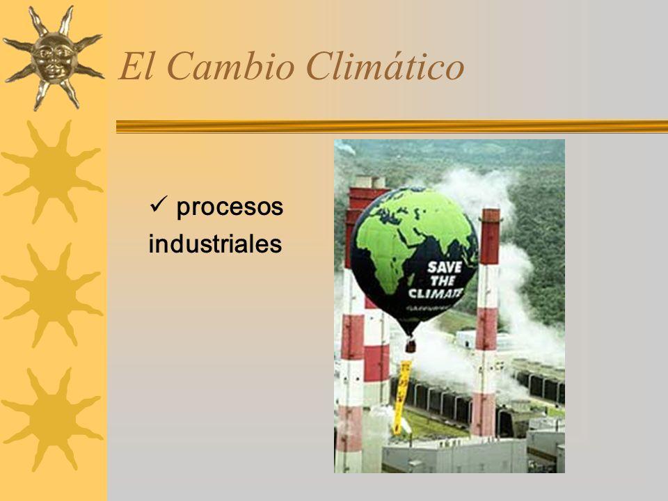 El Cambio Climático procesos industriales