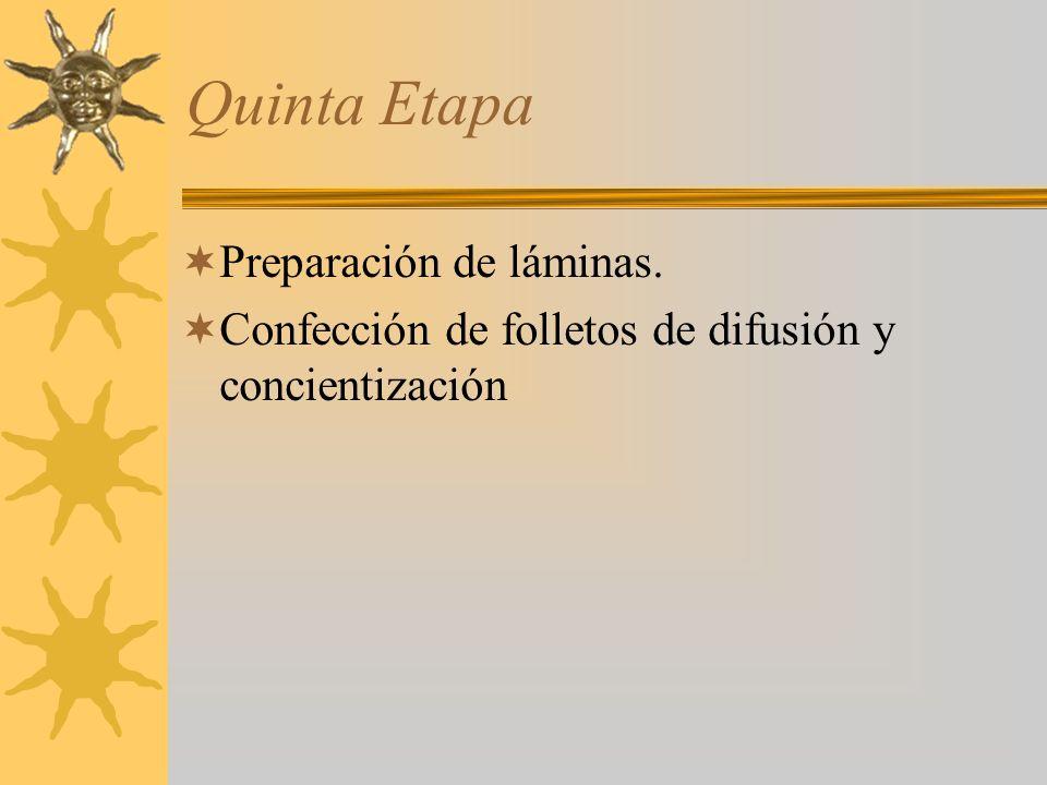 Quinta Etapa Preparación de láminas.
