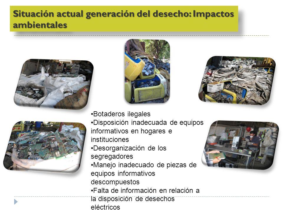 Situación actual generación del desecho: Impactos ambientales