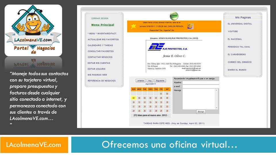 Ofrecemos una oficina virtual…