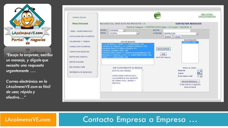 Contacto Empresa a Empresa …