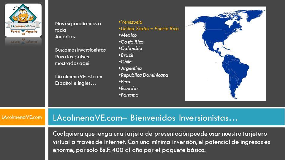 LAcolmenaVE.com– Bienvenidos Inversionistas…