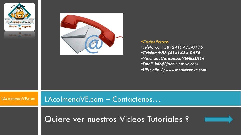 LAcolmenaVE.com – Contactenos…