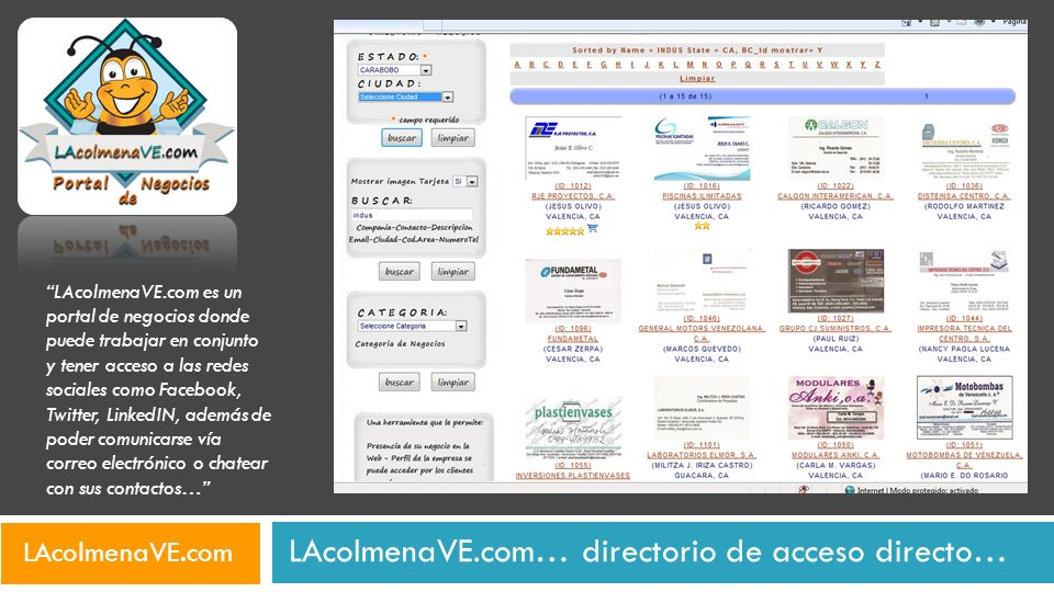 LAcolmenaVE.com… directorio de acceso directo…