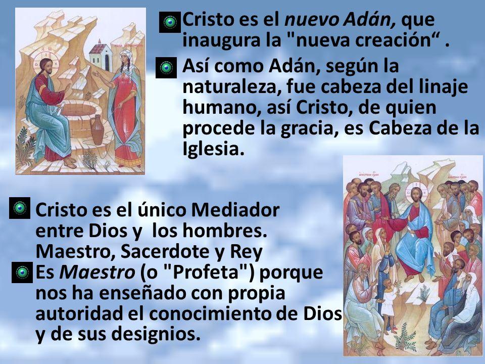 Cristo es el nuevo Adán, que inaugura la nueva creación .