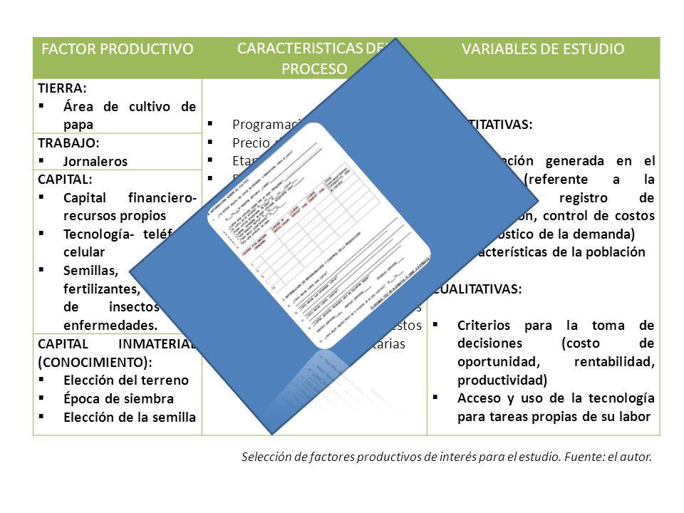 CARACTERISTICAS DEL PROCESO