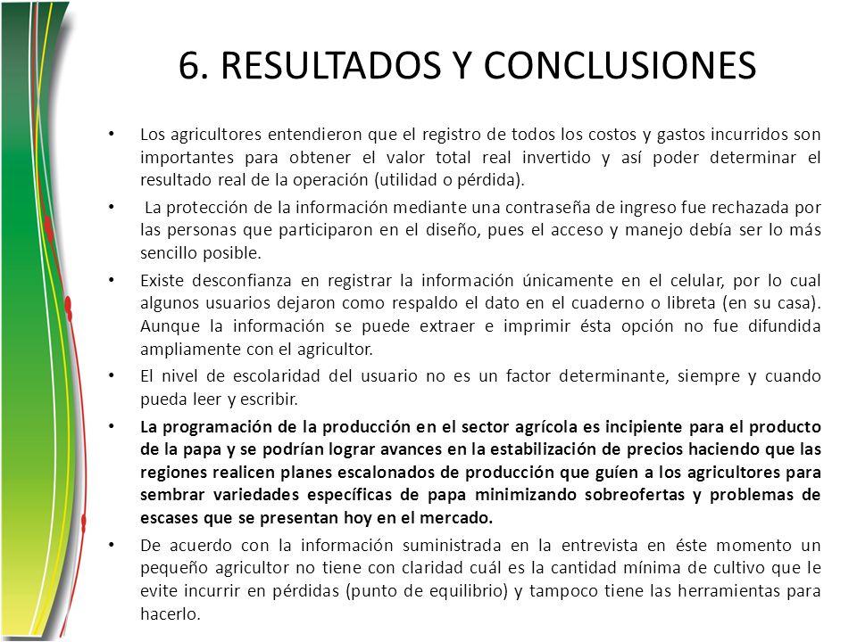 6. RESULTADOS Y CONCLUSIONES