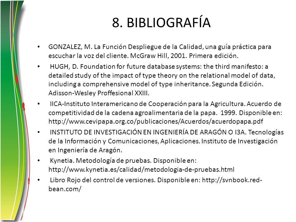 8. BIBLIOGRAFÍA