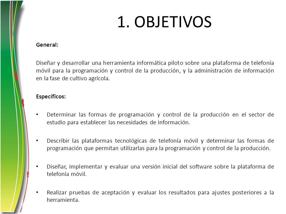 1. OBJETIVOS General: