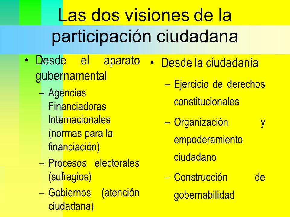Las dos visiones de la participación ciudadana