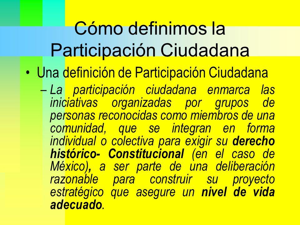Cómo definimos la Participación Ciudadana