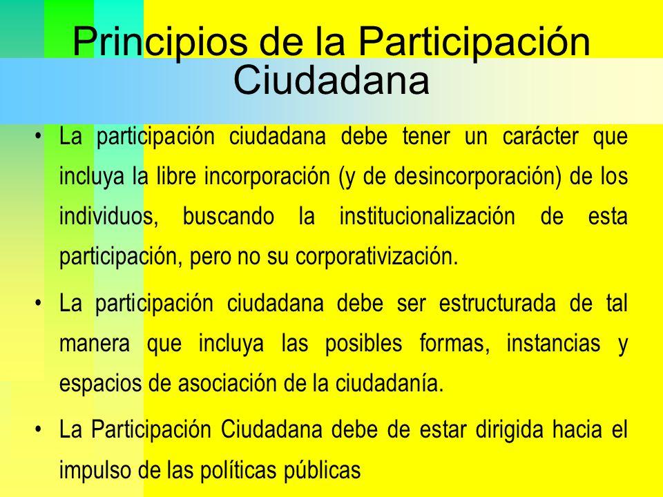 Principios de la Participación Ciudadana