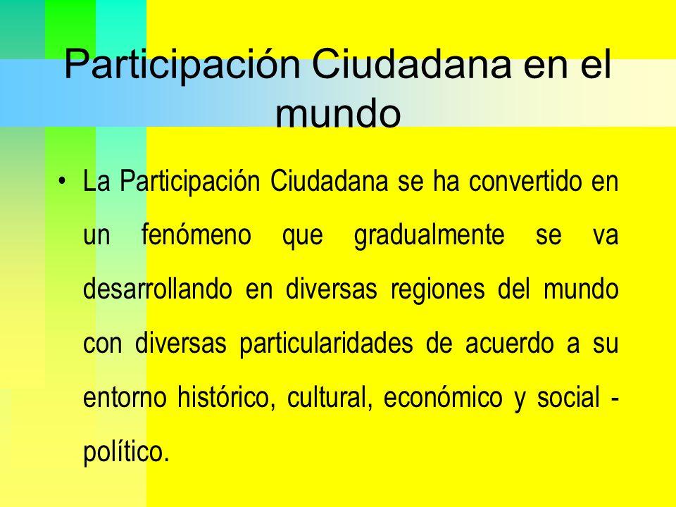 Participación Ciudadana en el mundo