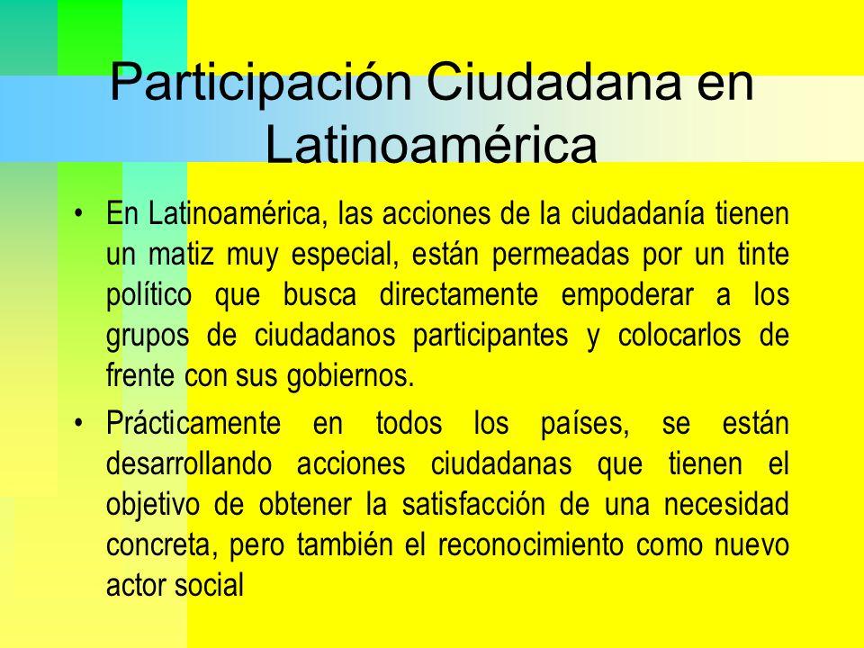 Participación Ciudadana en Latinoamérica