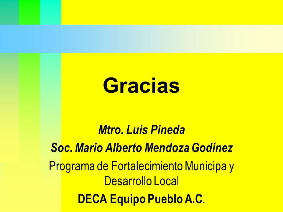Gracias Mtro. Luis Pineda Soc. Mario Alberto Mendoza Godínez
