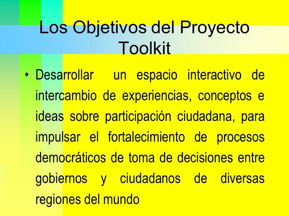 Los Objetivos del Proyecto Toolkit