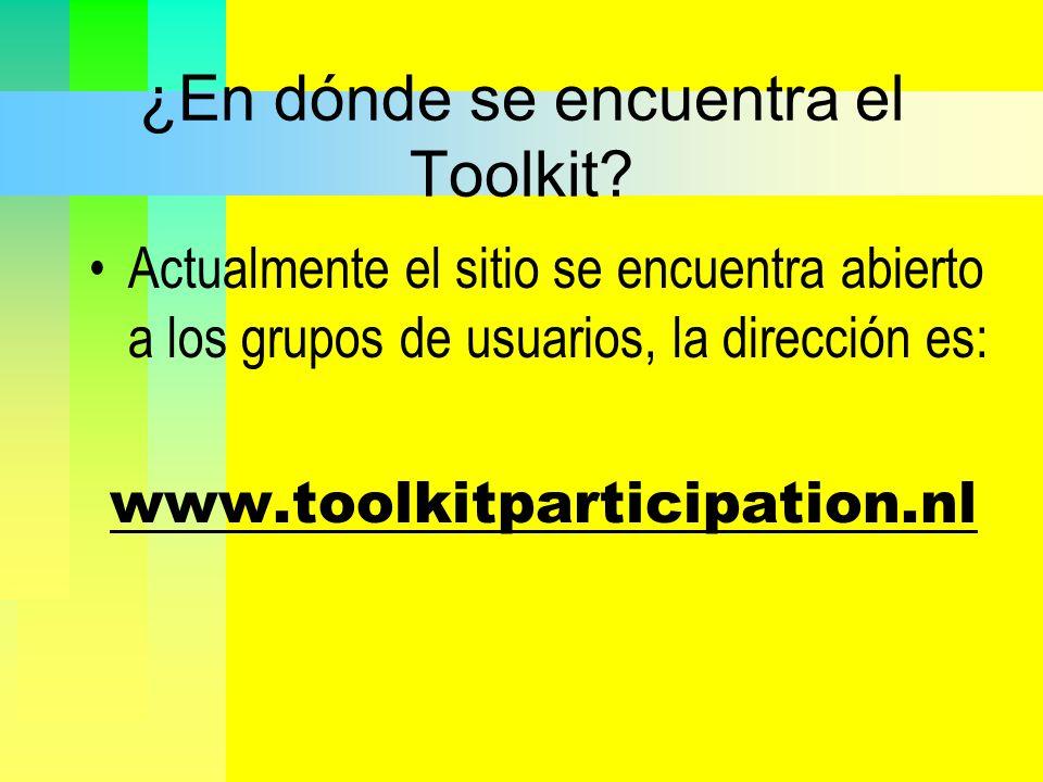 ¿En dónde se encuentra el Toolkit