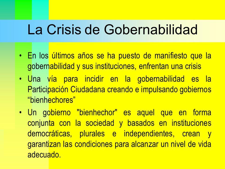 La Crisis de Gobernabilidad