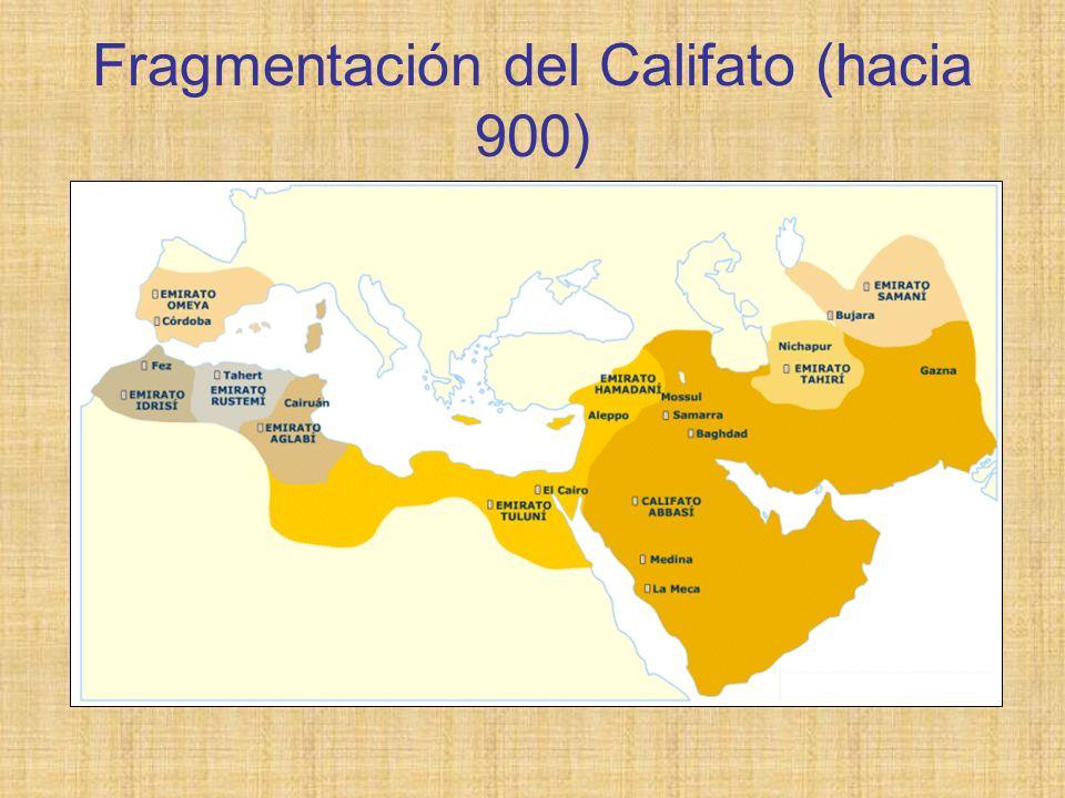 Fragmentación del Califato (hacia 900)