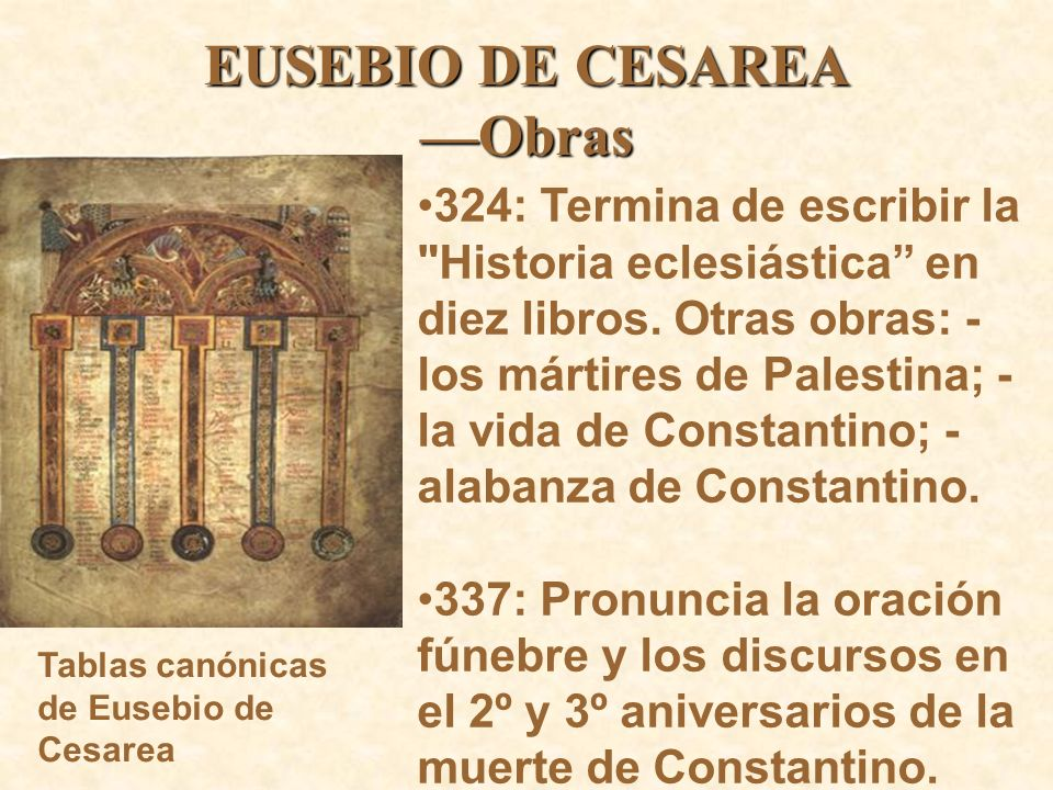 EUSEBIO DE CESAREA —Obras