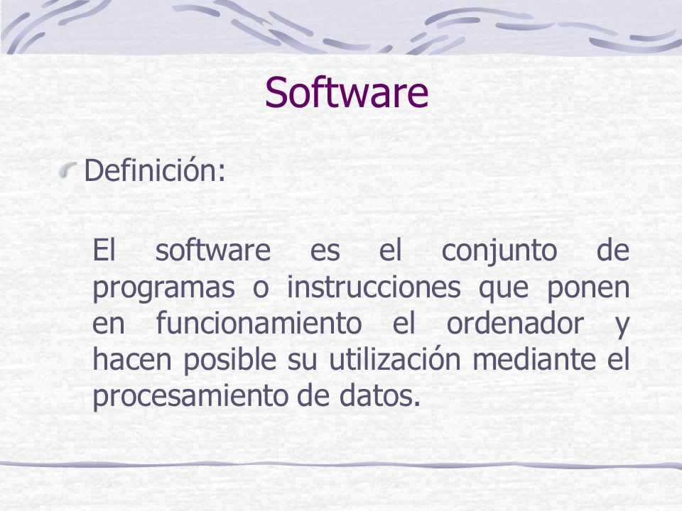 Software Definición: