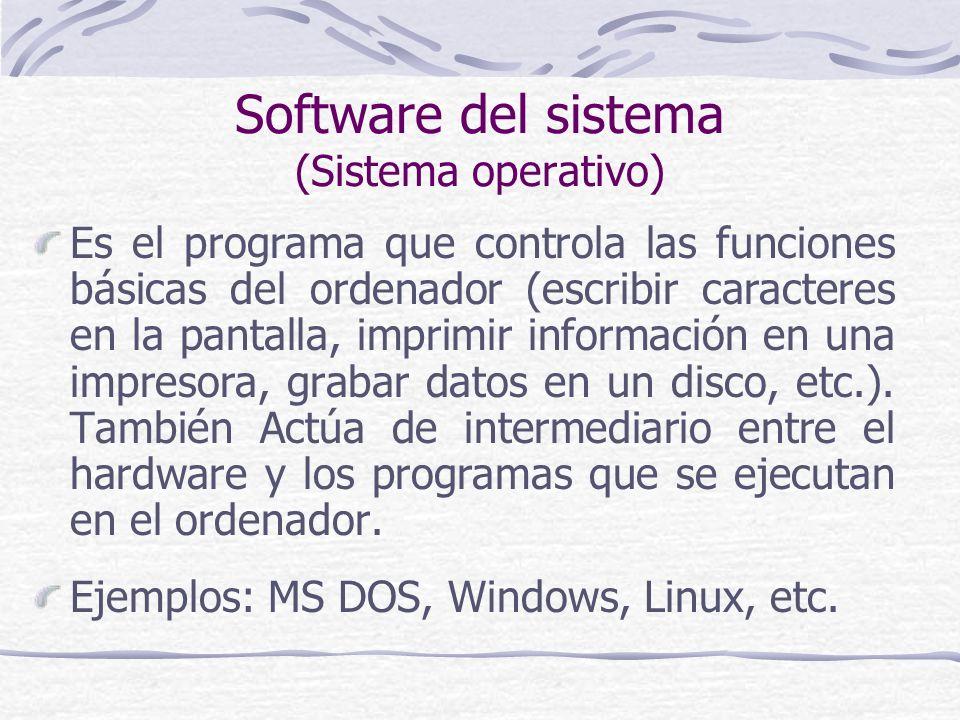 Software del sistema (Sistema operativo)