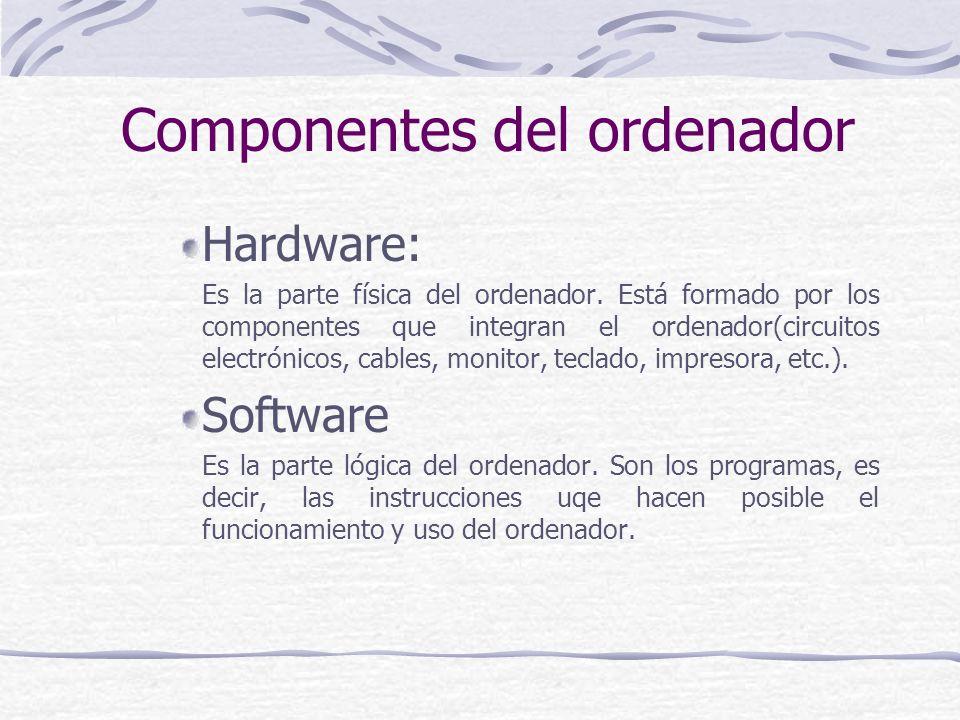 Componentes del ordenador