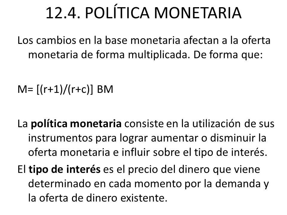 12.4. POLÍTICA MONETARIA
