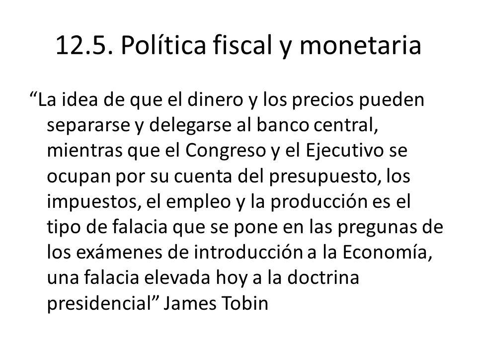 12.5. Política fiscal y monetaria