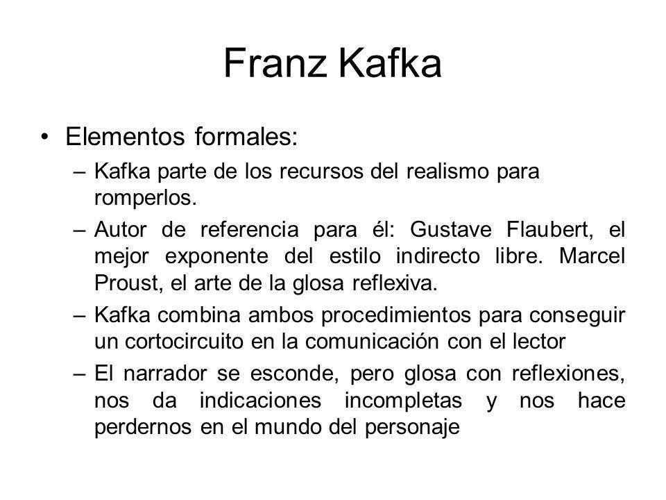 Franz Kafka Elementos formales: