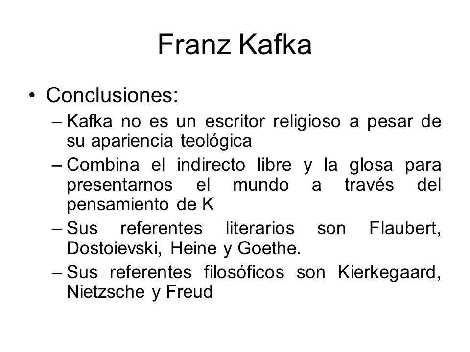 Franz Kafka Conclusiones:
