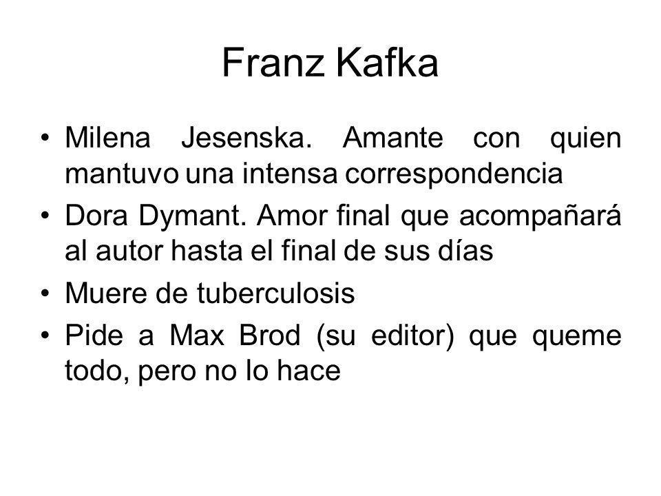 Franz Kafka Milena Jesenska. Amante con quien mantuvo una intensa correspondencia.