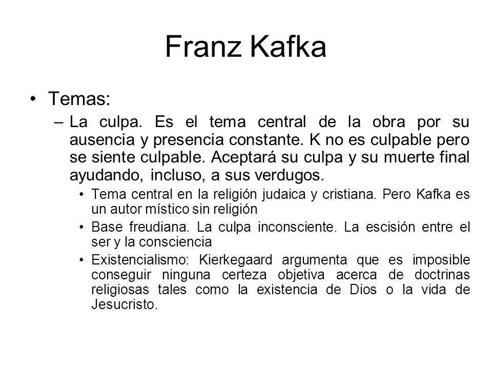 Franz Kafka Temas: