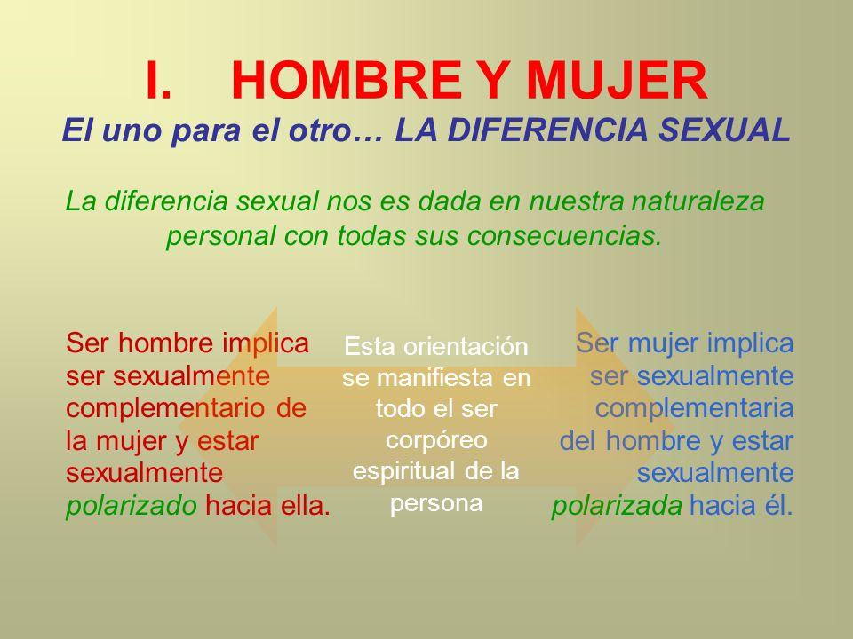 El uno para el otro… LA DIFERENCIA SEXUAL