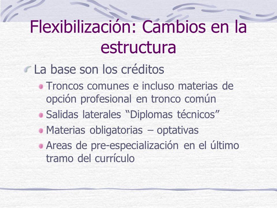 Flexibilización: Cambios en la estructura