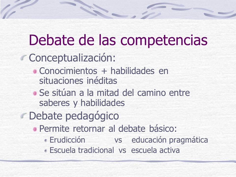 Debate de las competencias