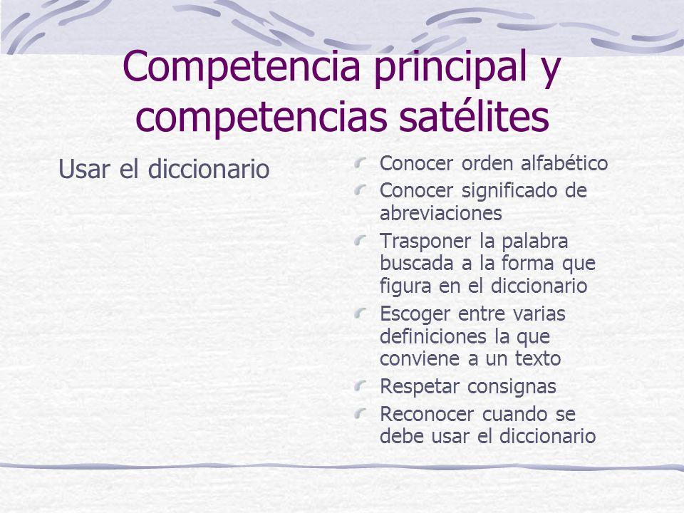 Competencia principal y competencias satélites