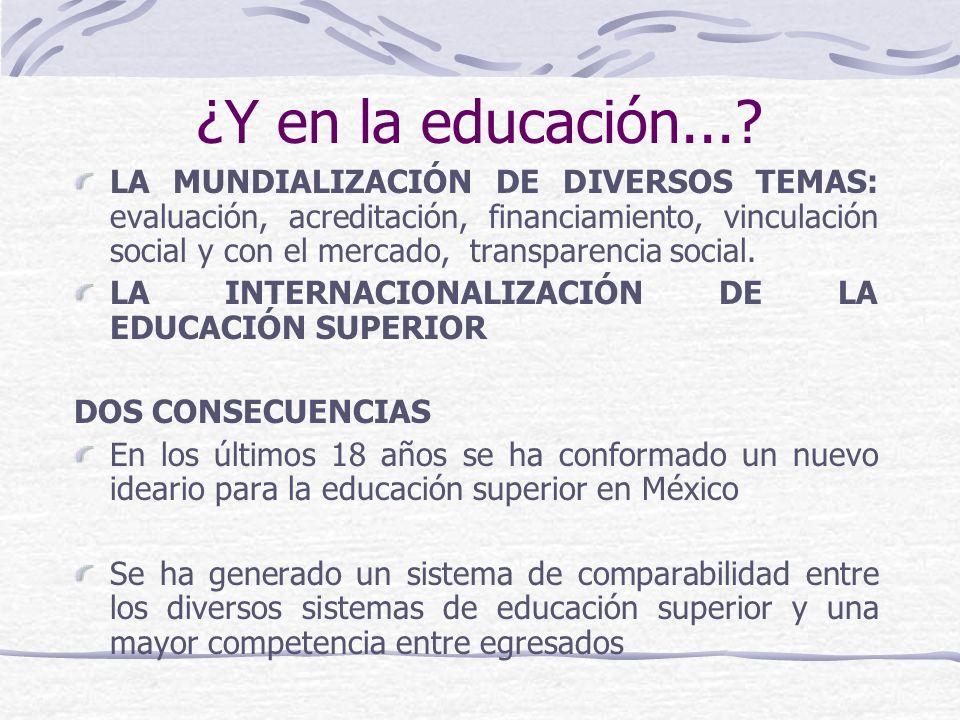 ¿Y en la educación...