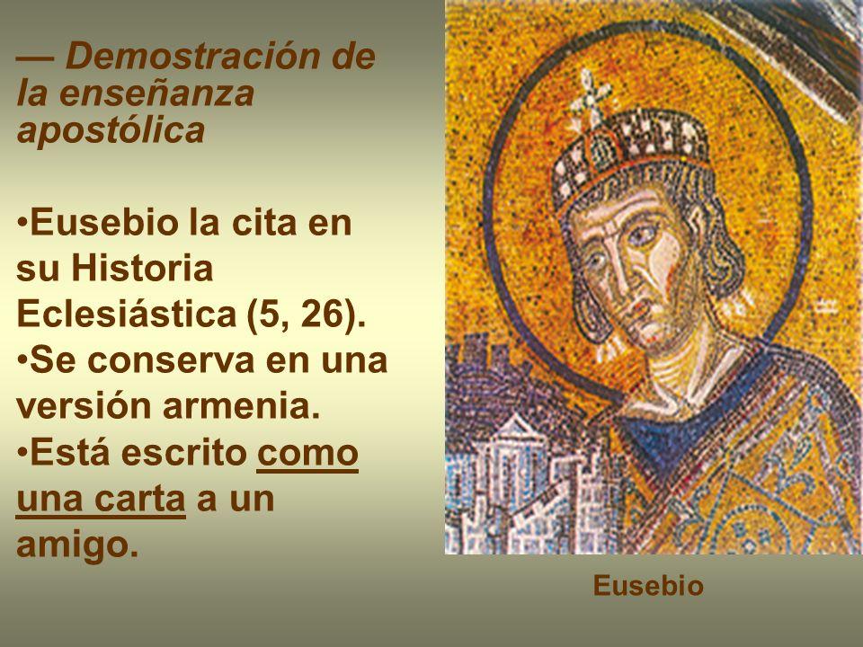 — Demostración de la enseñanza apostólica