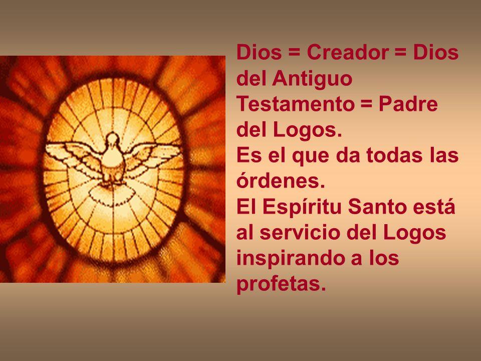 Dios = Creador = Dios del Antiguo Testamento = Padre del Logos.