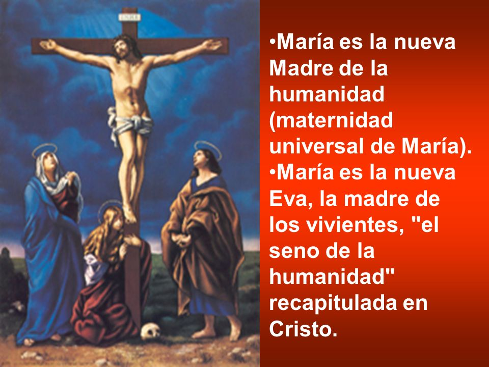 María es la nueva Madre de la humanidad (maternidad universal de María).