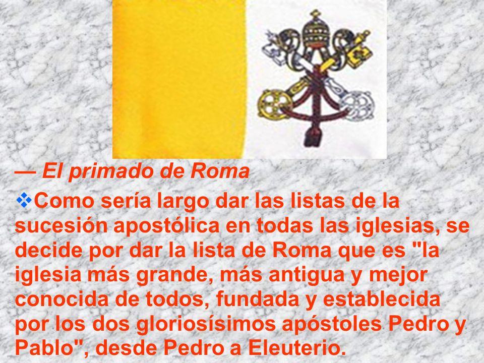 — El primado de Roma