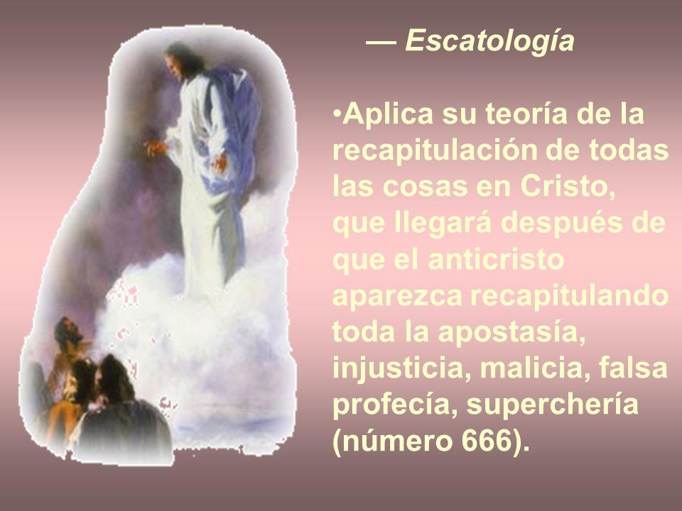 — Escatología