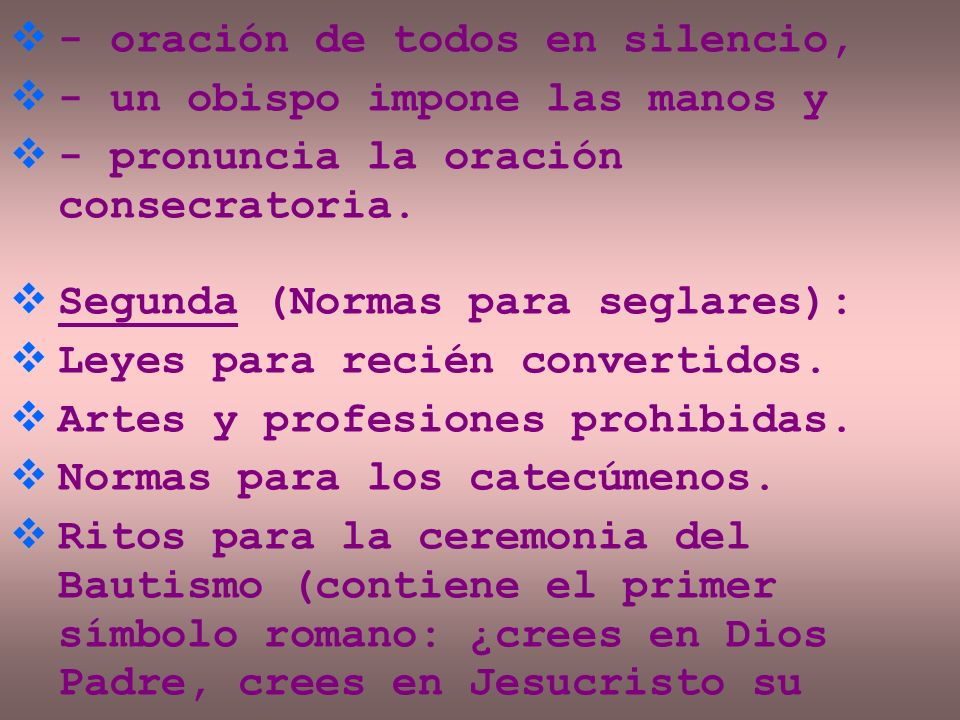 - oración de todos en silencio,