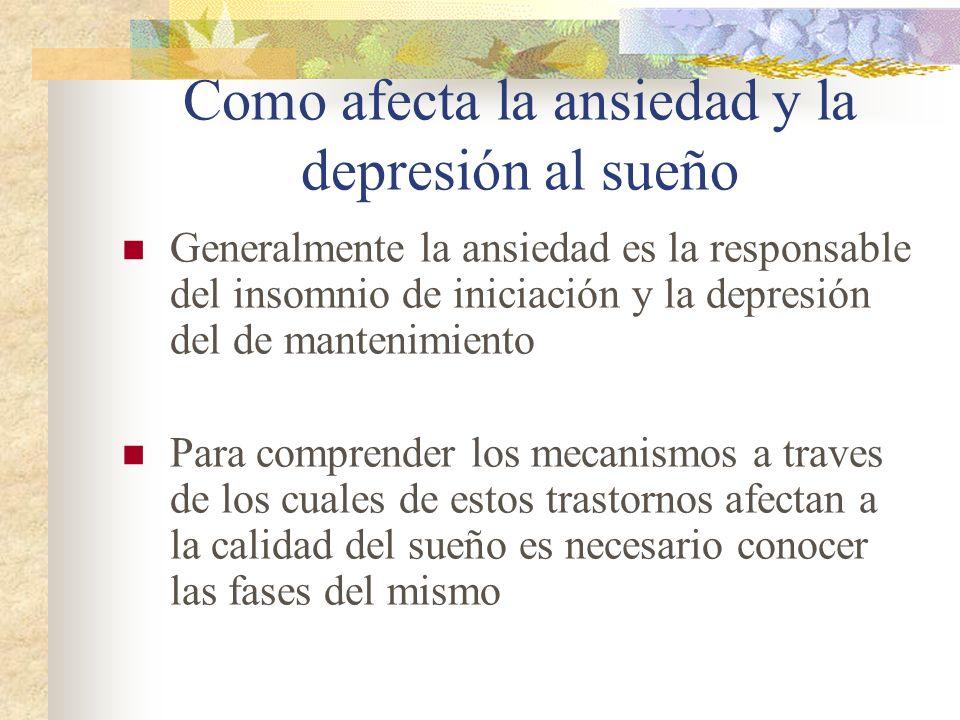 Como afecta la ansiedad y la depresión al sueño