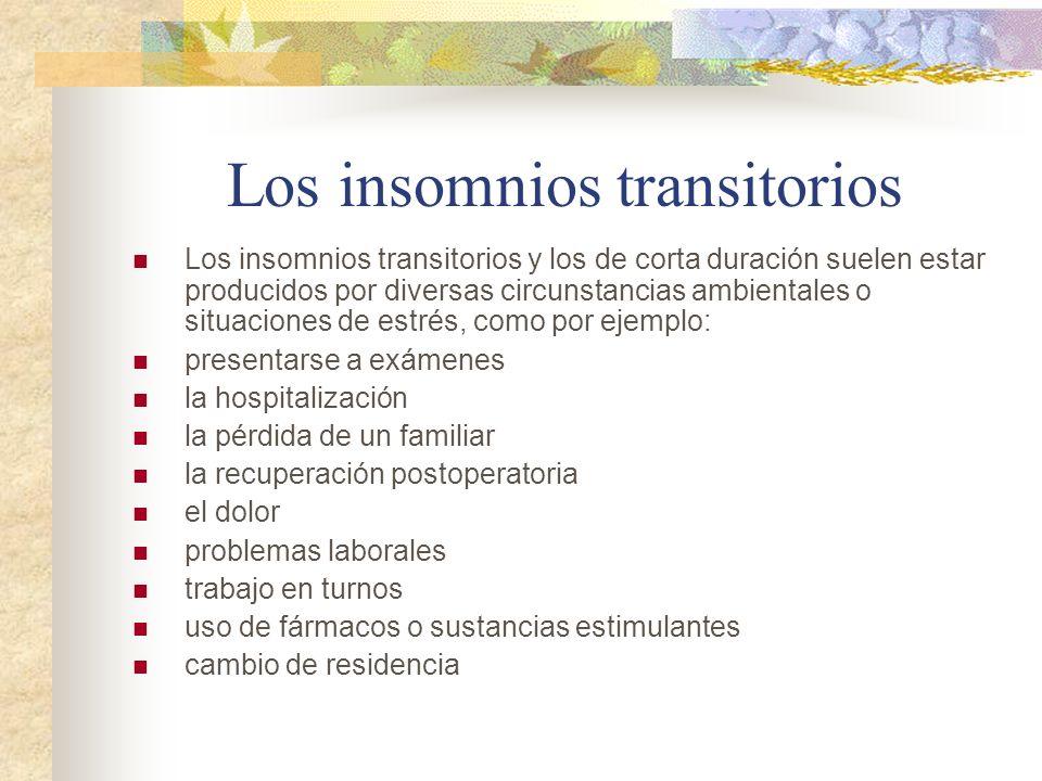 Los insomnios transitorios