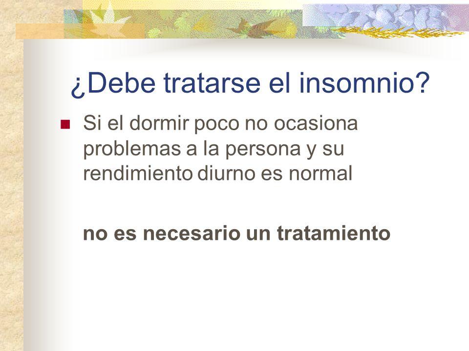 ¿Debe tratarse el insomnio