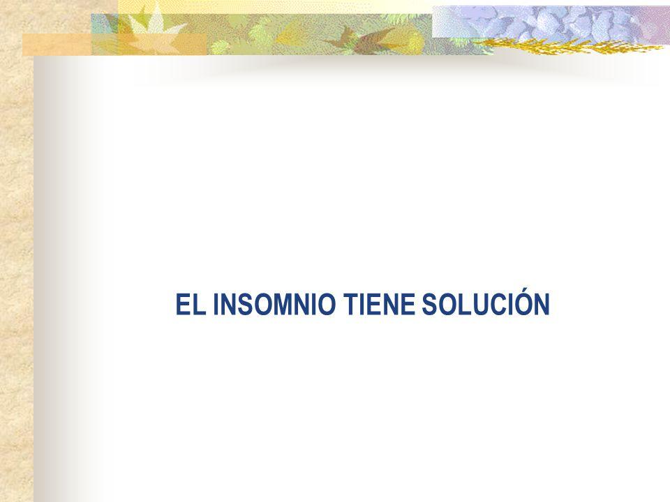EL INSOMNIO TIENE SOLUCIÓN
