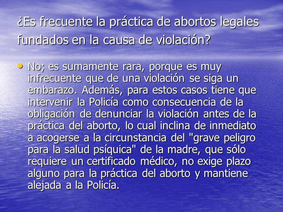 ¿Es frecuente la práctica de abortos legales fundados en la causa de violación